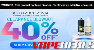 eJuices.com Clearance BLOWOUT Sale (40% Off)