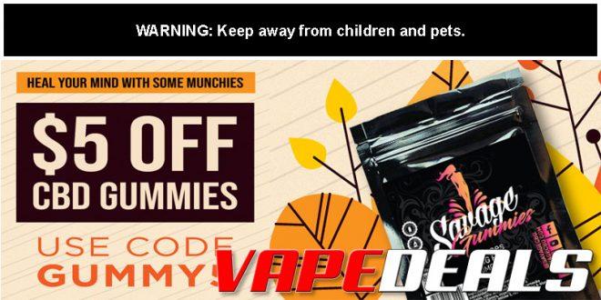 Savage CBD Gummies Sale ($5 Off)
