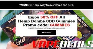 TheCBDSite Hemp Bombs CBD Gummies (50% Off)